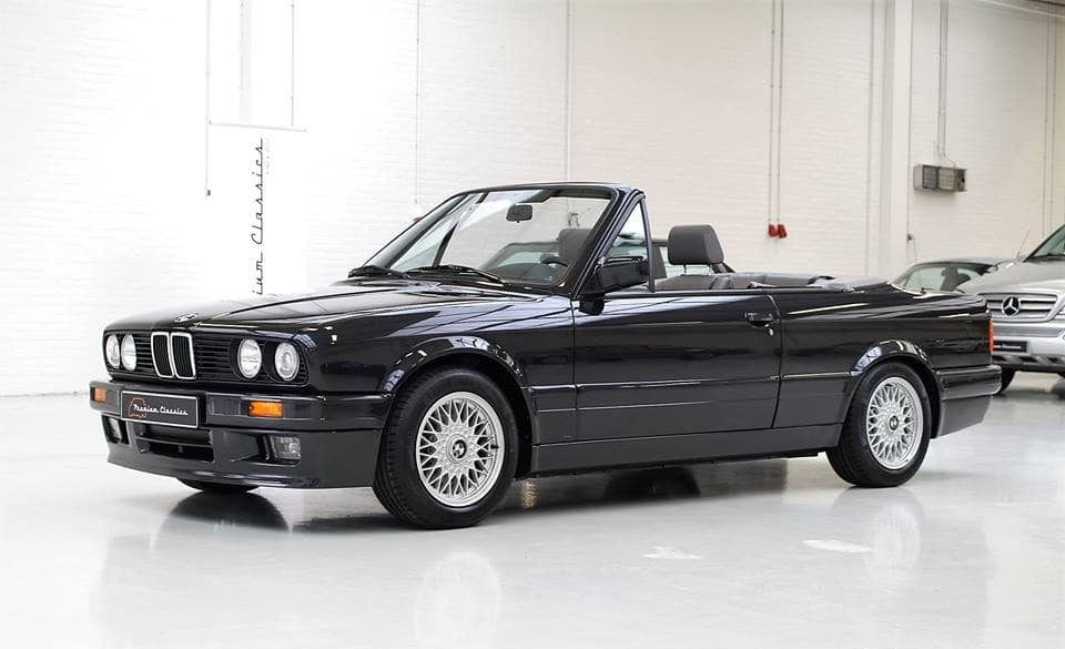 consignatie oldtimer of youngtimerbmw 325i e30 cabrio m tech ii. Black Bedroom Furniture Sets. Home Design Ideas