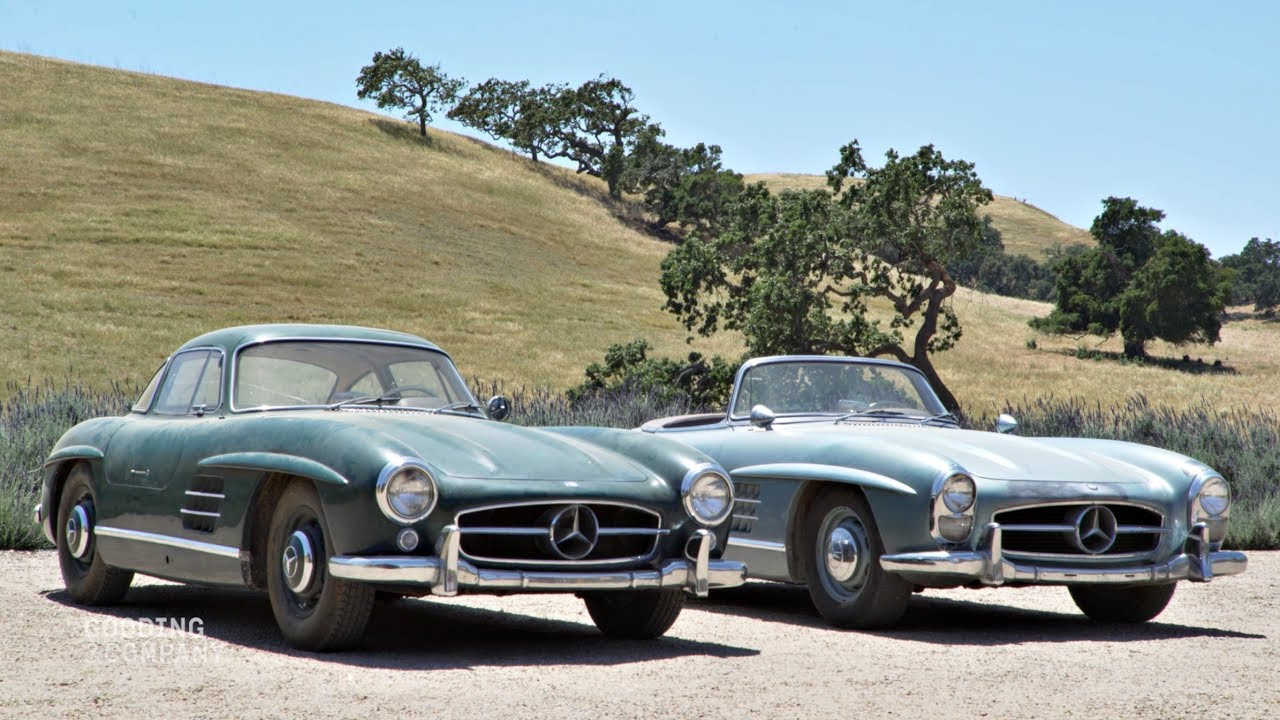 Consignatie oldtimer of youngtimertwee sensationele 300 sl for Mercedes benz gullwing 1955